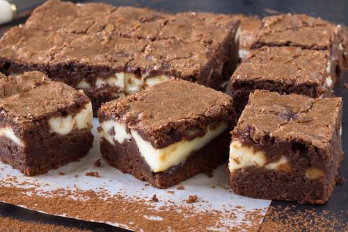 Receta de brownie de queso