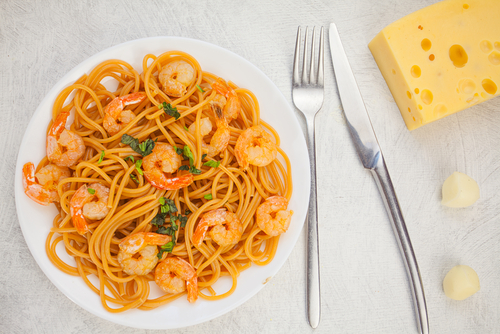 Receta de espaguetis con gambas al ajillo