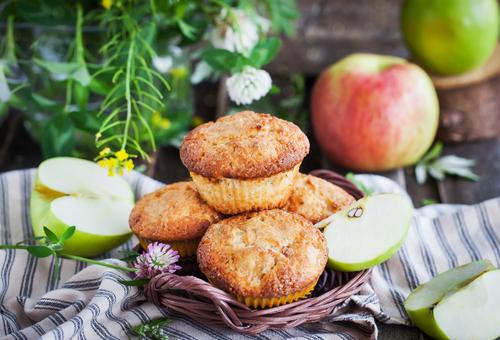 Receta de muffins de manzana