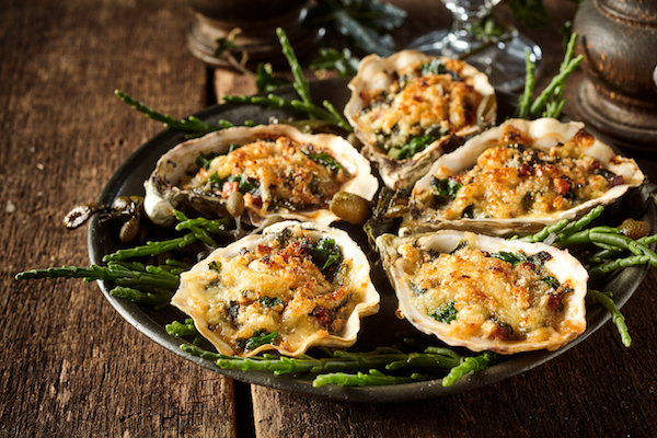 Receta de ostras gratinadas con crema