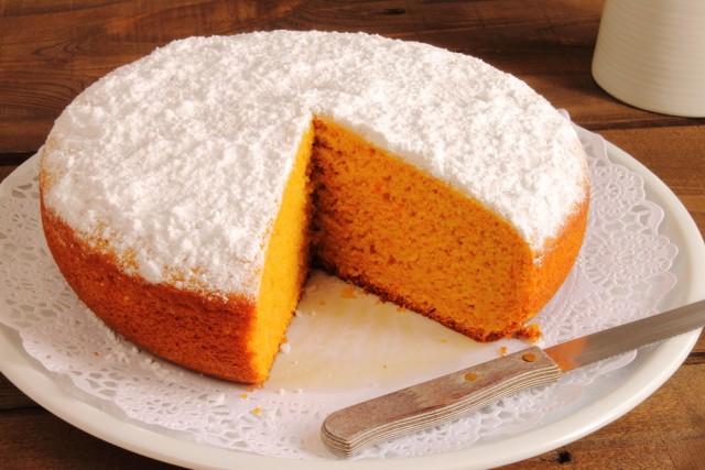 Receta de pastel de zanahoria y naranja