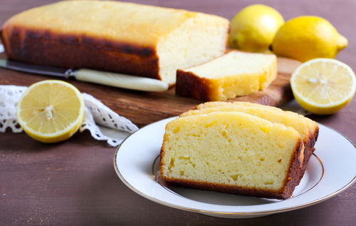 Receta de bizcocho de yogur de limon