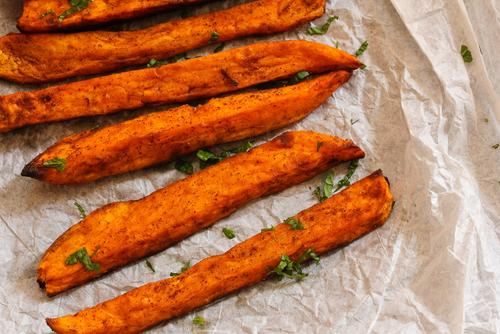 Receta de boniato frito con canela