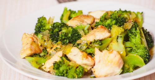 Receta de brócoli con pollo