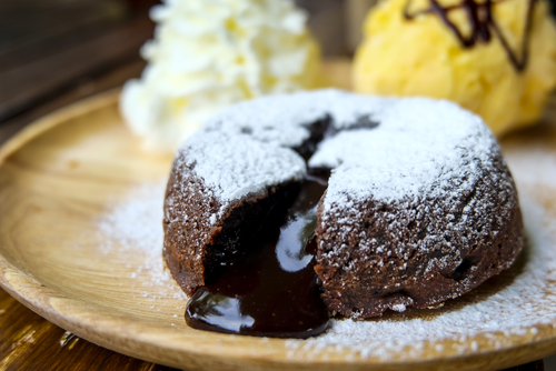 Receta de coulant de chocolate sin gluten
