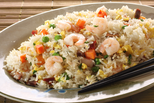 Receta de ensalada de arroz con gambas