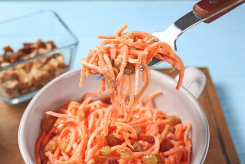 Receta de ensalada de zanahoria dulce