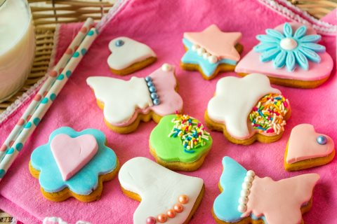 Receta de galletas decoradas con fondant