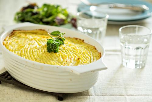 Receta de pastel de patata vegetariano