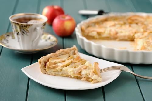 Receta de pie de manzana con crema pastelera