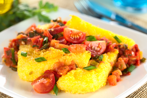 Receta de polenta con verduras