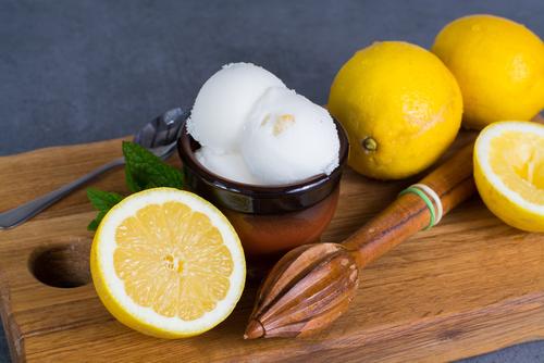 Receta de sorbete de limón sin azúcar