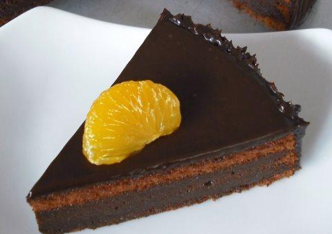 Receta de tarta de chocolate y naranja