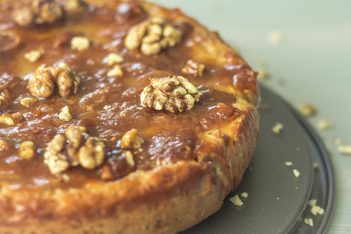 Receta de tarta de nueces asturiana