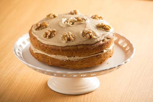 Receta de tarta de nueces sin huevo