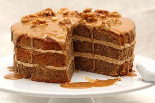 Receta de tarta de nueces y miel