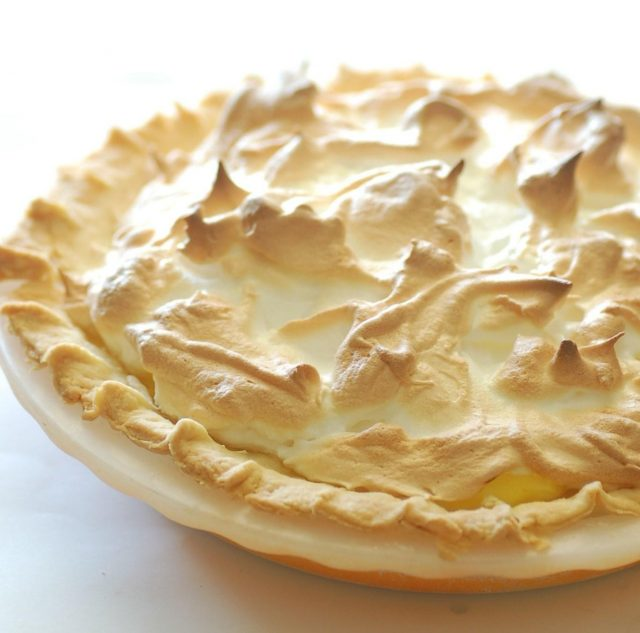 Receta de lemon pie con galletas