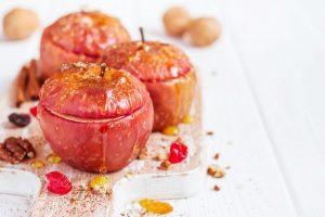 receta manzana asada con miel