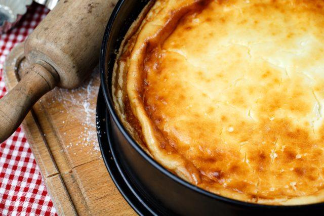 Receta de tarta de queso al horno