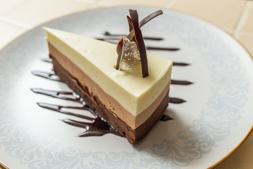 Receta de tarta tres chocolates sin azúcar