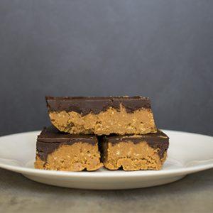receta barritas de mantequilla de cacahuete con chocolate