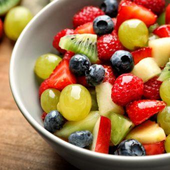 receta macedonia de frutas postre