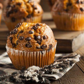 receta muffins americanos con pepitas de chocolate