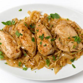 receta pollo guisado con almendras